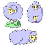 Χαριτωμένα πρόβατα μωρών κινούμενων σχεδίων ελεύθερη απεικόνιση δικαιώματος