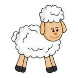 χαριτωμένα πρόβατα Στοκ εικόνα με δικαίωμα ελεύθερης χρήσης
