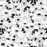 χαριτωμένα σκυλιά Ύφος Doodle Στοκ Εικόνα
