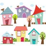 Χαριτωμένα σπίτια και σπίτια Στοκ εικόνες με δικαίωμα ελεύθερης χρήσης