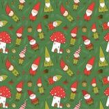Χαριτωμένα στοιχειά κινούμενων σχεδίων Νέο σχέδιο έτους s Νεράιδες Χριστουγέννων επίσης corel σύρετε το διάνυσμα απεικόνισης στοκ εικόνες με δικαίωμα ελεύθερης χρήσης
