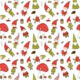 Χαριτωμένα στοιχειά κινούμενων σχεδίων Νέο σχέδιο έτους s Νεράιδες Χριστουγέννων επίσης corel σύρετε το διάνυσμα απεικόνισης Άσπρ στοκ φωτογραφία