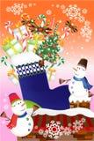 Χαριτωμένα σύνολα εικονιδίων διακοσμήσεων Χριστουγέννων - διανυσματικό eps10 απεικόνιση αποθεμάτων