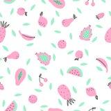 Χαριτωμένα φρούτα ροζ και μεντών Στοκ φωτογραφία με δικαίωμα ελεύθερης χρήσης
