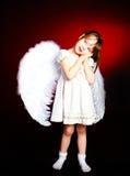 χαριτωμένα φτερά κοριτσιών Στοκ Φωτογραφίες