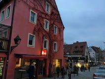 Χαριτωμένα, χαμηλά γερμανικά σπίτια Στοκ Εικόνες