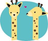 χαριτωμένα giraffes ελεύθερη απεικόνιση δικαιώματος
