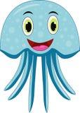 Χαριτωμένα jellyfish κινούμενα σχέδια απεικόνιση αποθεμάτων