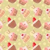 Χαριτωμένα muffins Στοκ εικόνα με δικαίωμα ελεύθερης χρήσης
