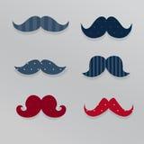 Χαριτωμένα mustaches διάνυσμα Στοκ εικόνα με δικαίωμα ελεύθερης χρήσης