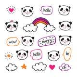 Χαριτωμένα pandas Στοκ φωτογραφίες με δικαίωμα ελεύθερης χρήσης