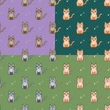 Χαριτωμένες γάτες κινούμενων σχεδίων καθορισμένες Στοκ Φωτογραφία