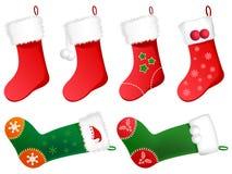 χαριτωμένες γυναικείες κάλτσες Χριστουγέννων Στοκ Εικόνες