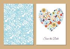 Χαριτωμένες εκλεκτής ποιότητας floral κάρτες καθορισμένες Στοκ Φωτογραφίες