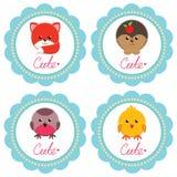 Χαριτωμένες κάρτες μωρών Στοκ Εικόνες