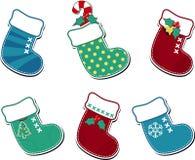 Χαριτωμένες κάλτσες Χριστουγέννων Στοκ φωτογραφίες με δικαίωμα ελεύθερης χρήσης