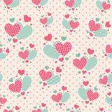 Χαριτωμένες καρδιές κινούμενων σχεδίων για το έγγραφο λευκώματος αποκομμάτων Στοκ εικόνες με δικαίωμα ελεύθερης χρήσης