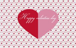 Χαριτωμένες κόκκινες και ρόδινες καρδιές απεικόνιση αποθεμάτων