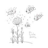 Χαριτωμένες μέλισσες κινούμενων σχεδίων Στοκ φωτογραφία με δικαίωμα ελεύθερης χρήσης