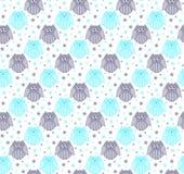 Χαριτωμένες μπλε και γκρίζες κουκουβάγιες με τα αστέρια στο υπόβαθρο Στοκ φωτογραφία με δικαίωμα ελεύθερης χρήσης