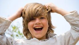 χαριτωμένες νεολαίες α&gamm Στοκ φωτογραφία με δικαίωμα ελεύθερης χρήσης