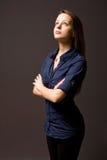 χαριτωμένες νεολαίες brunette στοκ φωτογραφία με δικαίωμα ελεύθερης χρήσης