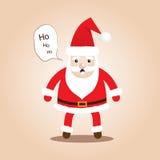 Χαριτωμένες προτάσεις Santa Μορφές κινούμενων σχεδίων για τα Χριστούγεννα Στοκ εικόνα με δικαίωμα ελεύθερης χρήσης