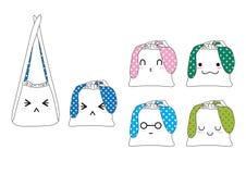 Χαριτωμένες τσάντες Στοκ Εικόνα