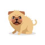 Χαριτωμένηη διανυσματική απεικόνιση χαρακτήρα σκυλιών μαλαγμένου πηλού κινούμενων σχεδίων  Στοκ φωτογραφίες με δικαίωμα ελεύθερης χρήσης