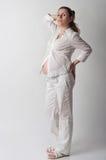 χαριτωμένη έγκυος γυναίκα πορτρέτου Στοκ Εικόνες