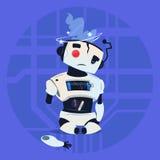 Χαριτωμένη έννοια τεχνολογίας τεχνητής νοημοσύνης ρομπότ σπασμένη λάθος σύγχρονη Στοκ εικόνες με δικαίωμα ελεύθερης χρήσης