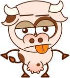 Χαριτωμένη αγελάδα στην απαθή διάθεση Στοκ Φωτογραφίες
