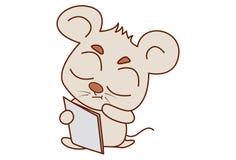 Χαριτωμένη ανάγνωση ποντικιών απεικόνιση αποθεμάτων