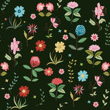 Χαριτωμένη ανασκόπηση λουλουδιών Στοκ Εικόνα