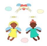 Χαριτωμένη απεικόνιση αγγέλων ελεύθερη απεικόνιση δικαιώματος