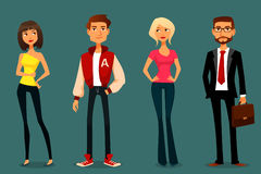 Χαριτωμένη απεικόνιση κινούμενων σχεδίων των ανθρώπων Στοκ Φωτογραφία