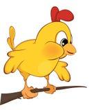 Χαριτωμένη απεικόνιση κοτόπουλου cartoon Στοκ Εικόνες