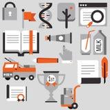 Χαριτωμένη απεικόνιση στοιχείων σχεδίου εικονιδίων καθορισμένη Στοκ φωτογραφίες με δικαίωμα ελεύθερης χρήσης