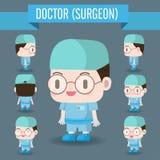 Χαριτωμένη απεικόνιση χαρακτήρα ενός γιατρού στο νοσοκομείο Στοκ Φωτογραφία