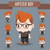 Χαριτωμένη απεικόνιση χαρακτήρα του αγοριού Hipster Στοκ φωτογραφία με δικαίωμα ελεύθερης χρήσης