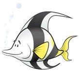 Χαριτωμένη απεικόνιση ψαριών κινούμενων σχεδίων τροπική Στοκ Φωτογραφίες
