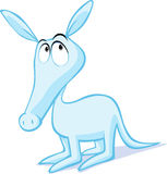 Χαριτωμένη απεικόνιση aardvark που απομονώνεται στο λευκό ελεύθερη απεικόνιση δικαιώματος