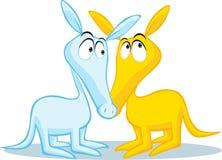 Χαριτωμένη απεικόνιση aardvark δύο που απομονώνεται στο λευκό απεικόνιση αποθεμάτων