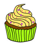 Χαριτωμένη απεικόνιση cupcake Στοκ εικόνα με δικαίωμα ελεύθερης χρήσης