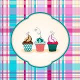 Χαριτωμένη απεικόνιση cupcakes Στοκ φωτογραφίες με δικαίωμα ελεύθερης χρήσης