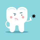 Χαριτωμένη αποσύνθεση δοντιών κινούμενων σχεδίων υγιής αντιτιθέμενη, οδοντική διανυσματική απεικόνιση για τα παιδιά Στοκ φωτογραφία με δικαίωμα ελεύθερης χρήσης