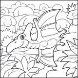 Χαριτωμένη αστεία απεικόνιση pterodactyl Στοκ φωτογραφία με δικαίωμα ελεύθερης χρήσης