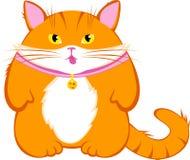 Χαριτωμένη γάτα κινούμενων σχεδίων Στοκ φωτογραφία με δικαίωμα ελεύθερης χρήσης
