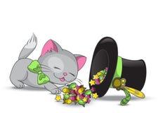 Χαριτωμένη γάτα διανυσματική απεικόνιση