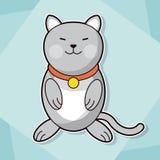 Χαριτωμένη γατακιών εικόνα κατοικίδιων ζώων περιλαίμιων αιλουροειδής ελεύθερη απεικόνιση δικαιώματος